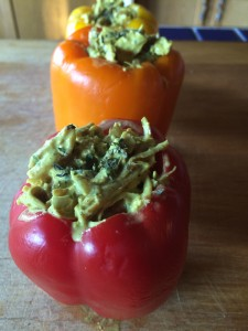 Turkey and Coconut Curry Stuffed Peppers 1- Freezer Meals - MaK and Cheese