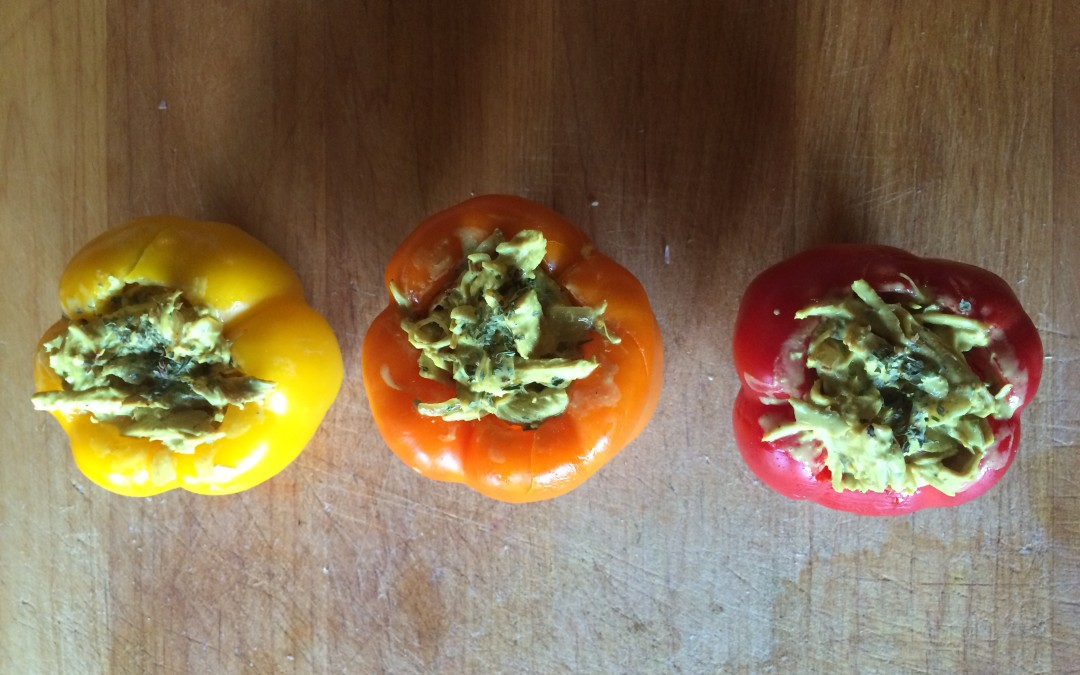 Turkey and Coconut Curry Stuffed Peppers 2- Freezer Meals - MaK and Cheese